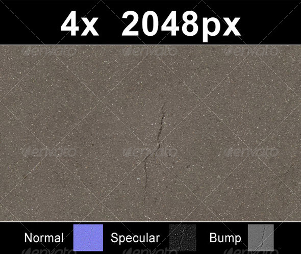 Asphalt Road Tiles Collection  - 3DOcean Item for Sale