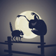 Black Cat vs Dark Pumpkin - GraphicRiver Item for Sale