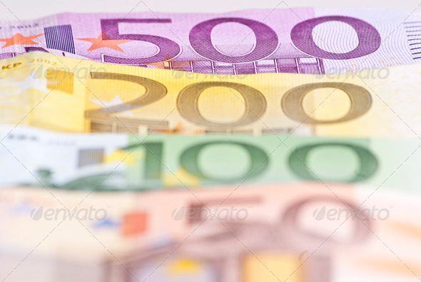 Euro Money Macro - Stock Photo - Images