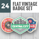 24 Flat Vintage Badge Set-Graphicriver中文最全的素材分享平台