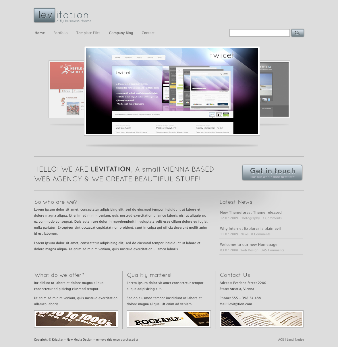 Levitation - Business & Portfolio - 4 in 1
