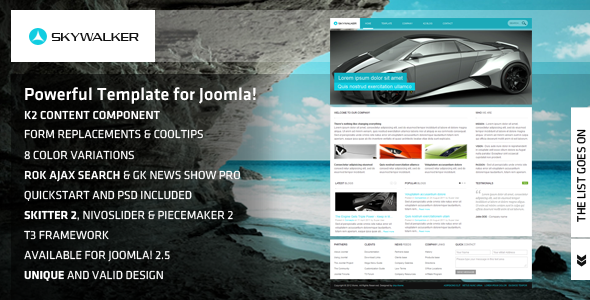 Skywalker - Powerful Template for Joomla!