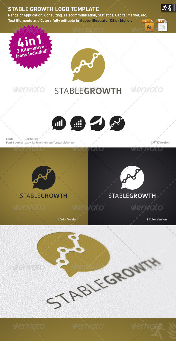 Graphic River Stable Growth Logo Template Logo Templates -  Abstract 1476390