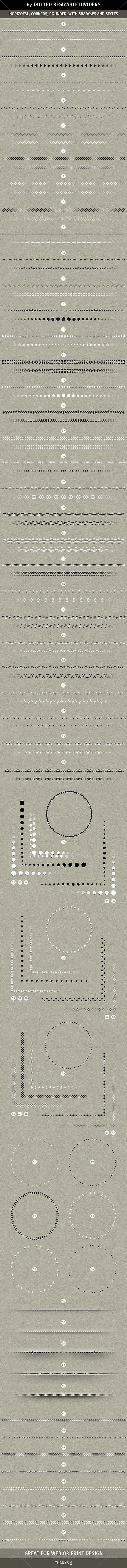 Graphic River 67 Resizable Dotted Dividers Web Elements -  Miscellaneous 1479038