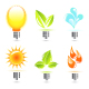 Nature in electricity. Icons - GraphicRiver Item for Sale
