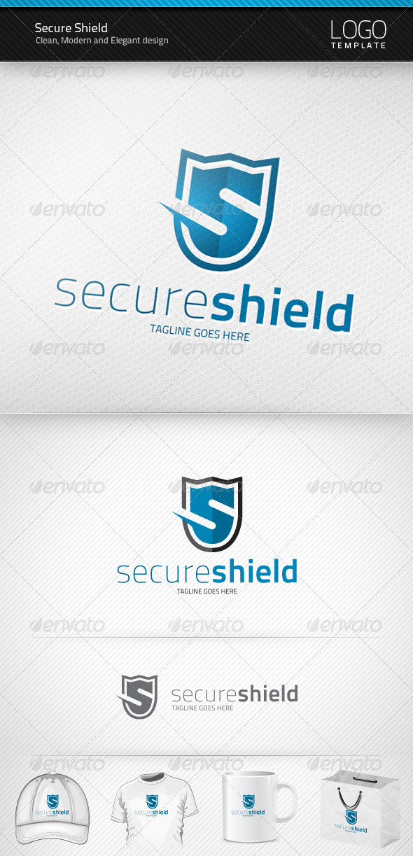 Secure Shield Logo - Letters Logo Templates