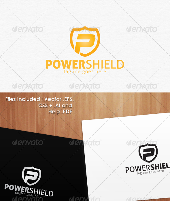 Power Shield Secure Logo Design - Crests Logo Templates