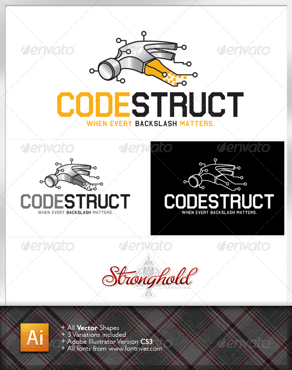 Graphic River Codestruct Logo Logo Templates -  Symbols 1481465