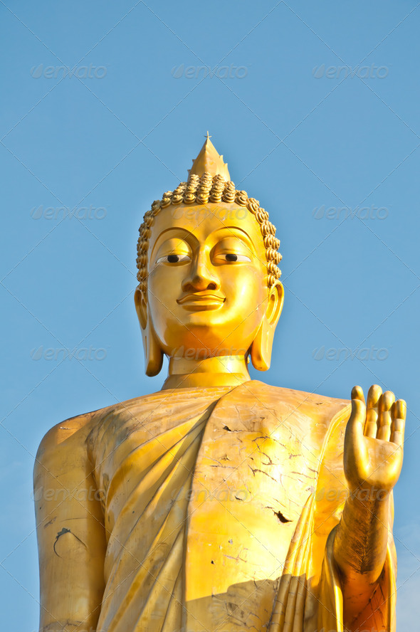 Big Buddha statue stand - Stock Photo - Images