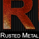 Rusted Metal Text Style - GraphicRiver Item for Sale