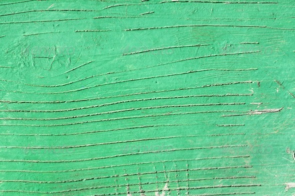 Green wooden painted surface - Stock Photo - Images
