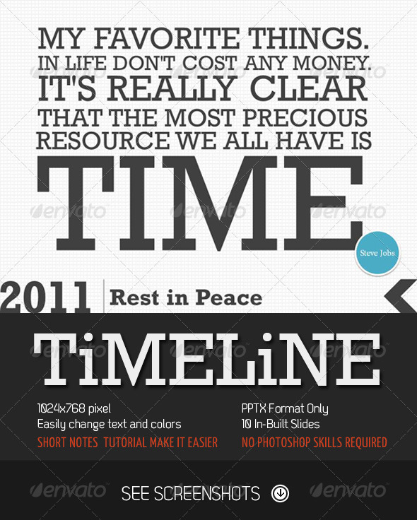 GraphicRiver Timeline PowerPoint Presentation 1485932