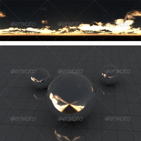 3DOcean Cloudy sunset 2 175917
