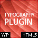 WordPress Typography Plugin - CodeCanyon Item for Sale
