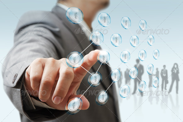 businessman and socialnetwork - Stock Photo - Images
