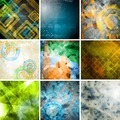 Collection of tech grunge backdrops - PhotoDune Item for Sale