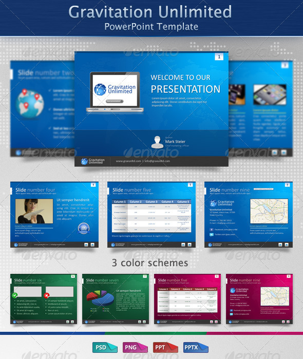 GraphicRiver Gravitation Unlimited PowerPoint Template 1488253