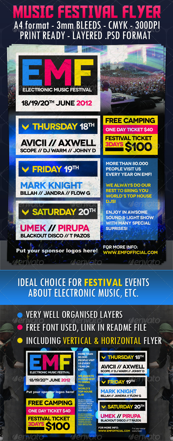 Music Festival Flyer - Concerts Events