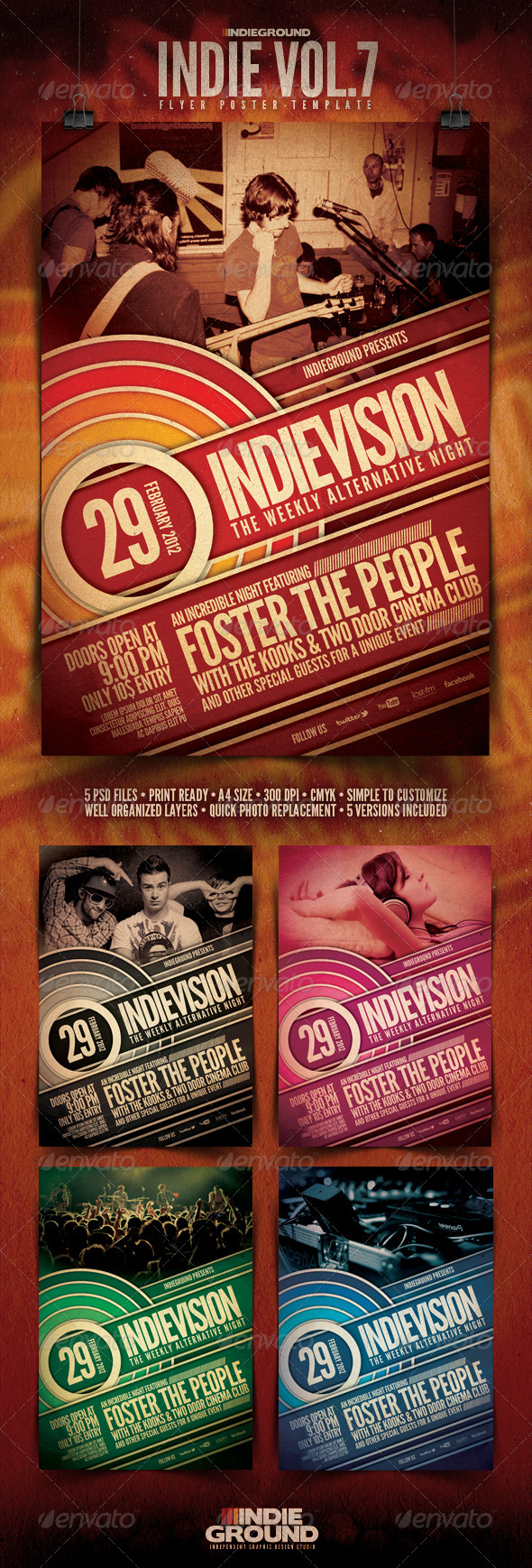 GraphicRiver Indie Flyer Poster Vol 7 239815