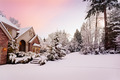 Twilight over snowy home - PhotoDune Item for Sale