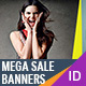 Mega Sale Banners-Graphicriver中文最全的素材分享平台