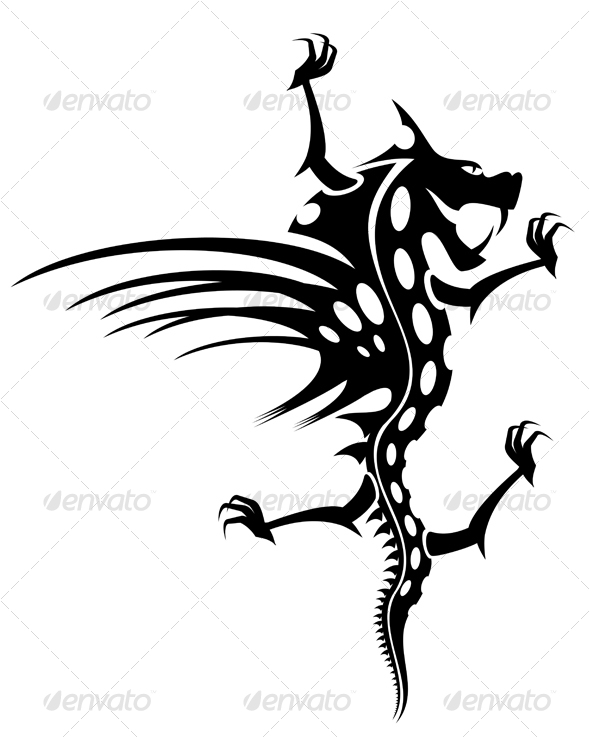 Tattoo of black dragon - Tattoos Vectors