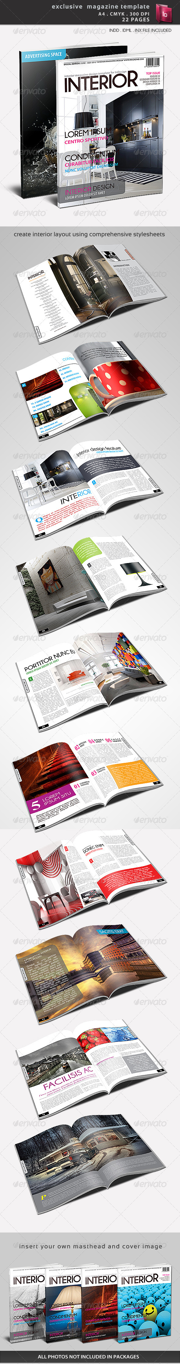 Exclusive Magazine Template - Magazines Print Templates