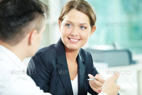 Interacting female - Stock Photo - Images