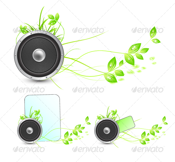 GraphicRiver Sounds of nature Environmental concepts 58472