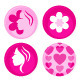Pink female badges or icons set - GraphicRiver Item for Sale