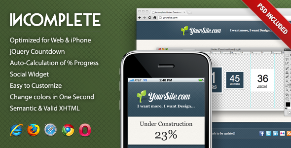 ThemeForest Incomplete Under Construction Page 175737