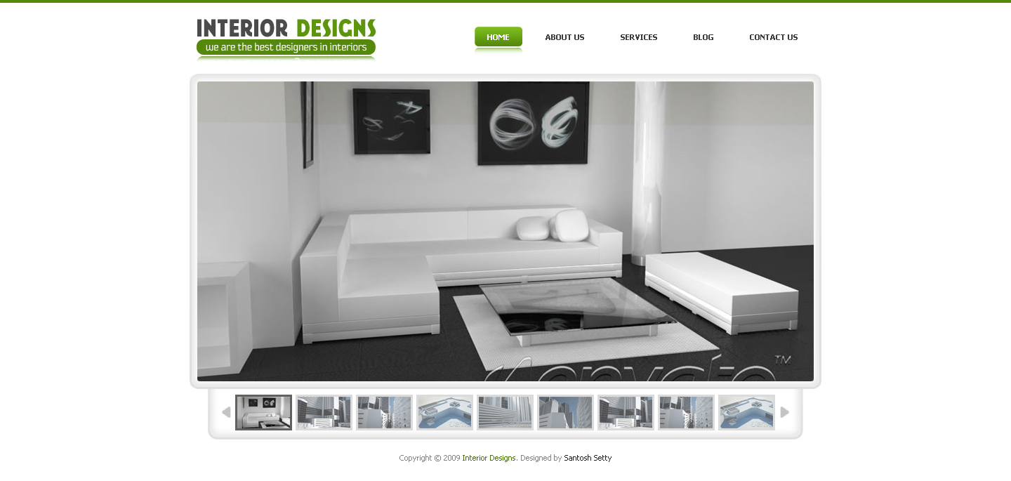 Interior Designs - Drupal 6 Gallery Theme