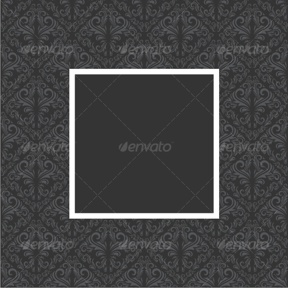 Floral frame GraphicRiver - Vectors -  Decorative  Backgrounds 59000