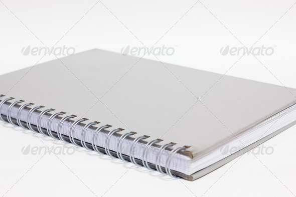 Notebook on a white background - Stock Photo - Images