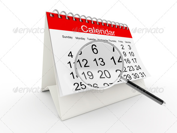 PhotoDune 3D desktop calendar 1501263