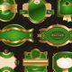 Golden &amp;amp; green Luxury Ornate Framed Labels - GraphicRiver Item for Sale
