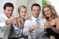 Colleagues drinking a glass of champagne - PhotoDune Item for Sale