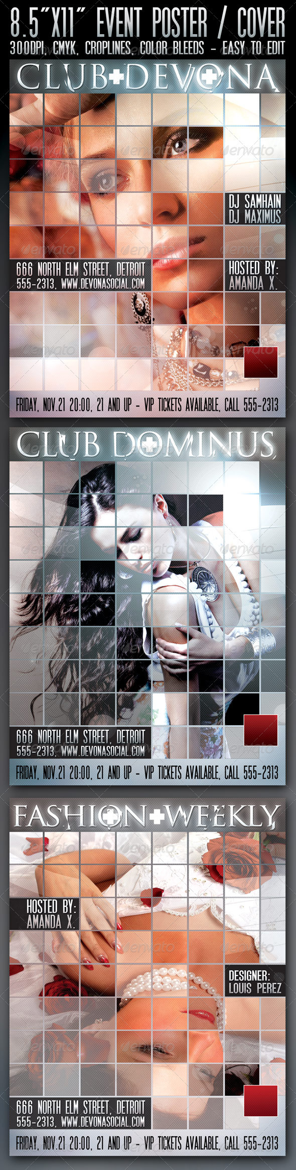 "8.5""x11"" Poster ""Devona"" - Clubs & Parties Events"