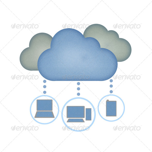 PhotoDune Recycle paper Cloud computing concept 1506224