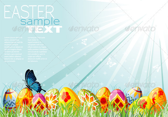 GraphicRiver Easter Background 1504924