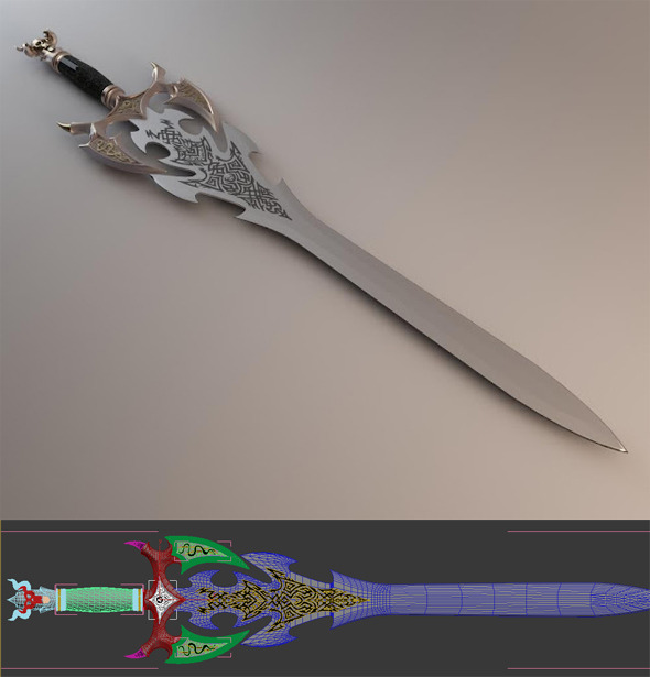 Sword of Darkness - 3DOcean Item for Sale