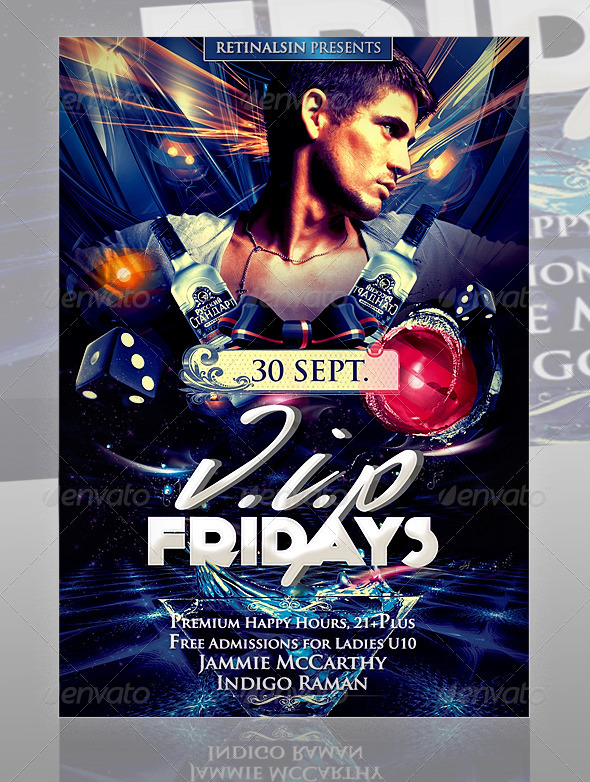 GraphicRiver V.I.P Fridays Flyer Template 561365