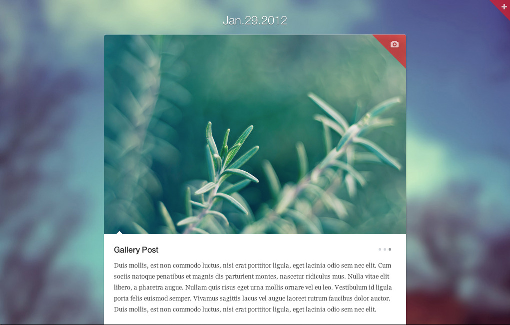 Quicknote - clean & functional blog - Quicknote gallery post type