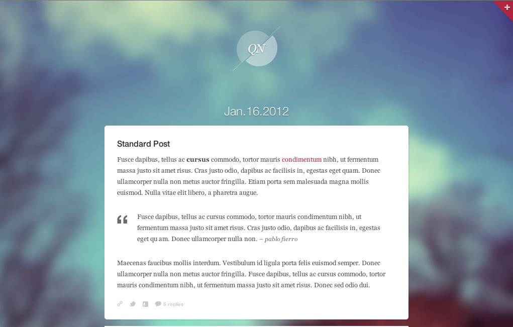 Quicknote - clean & functional blog - Quicknote standard post type