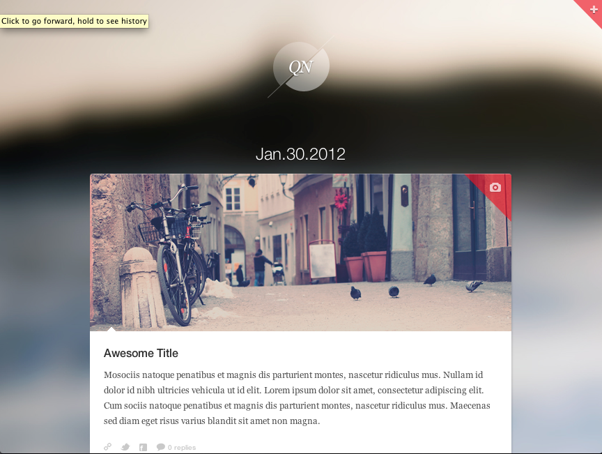 Quicknote - clean & functional blog - Background #3