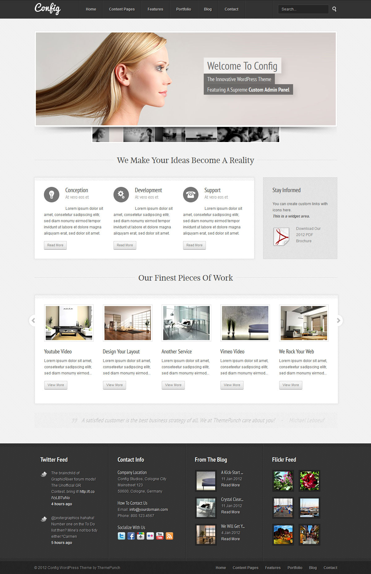 Config Multipurpose WordPress Theme