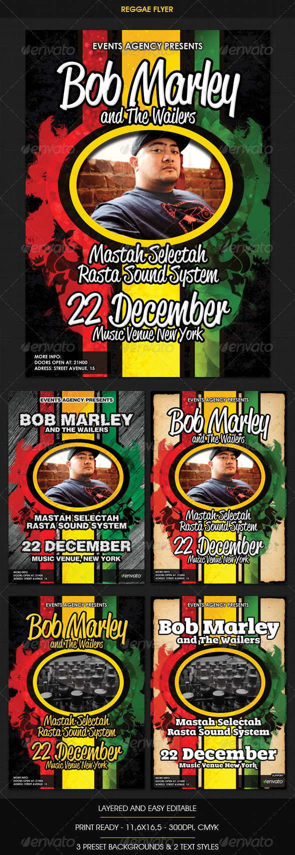 GraphicRiver Reggae Rasta Flyer 759259