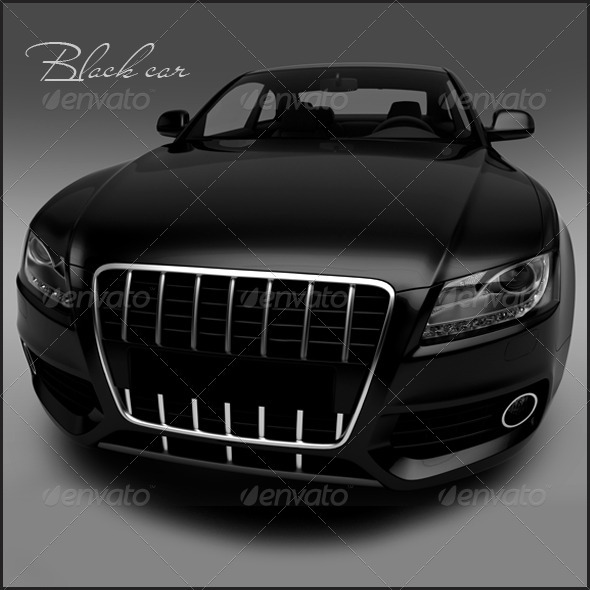 Graphic River Black car Graphics -  3D Renders 1508936