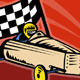 Soap Box Derby Car Racing Checkered Flag - GraphicRiver Item for Sale