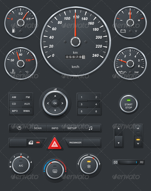 Realistic Car Dashboard - Miscellaneous Graphics